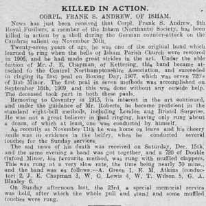 George Andrew Death Notice